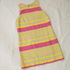 Loft Pink and Yellow Striped Dress